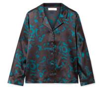 Beryl Pyjama-hemd aus Seidensatin