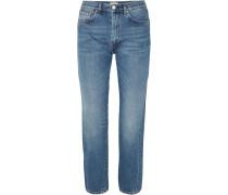 Halbhohe Jeans mit Geradem Bein