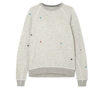 The College Besticktes Distressed-sweatshirt aus Flammgarn-jersey aus einer Baumwollmischung