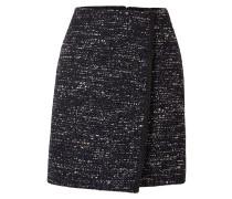 Minirock aus Tweed mit Wickeleffekt