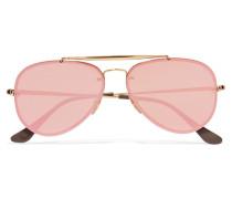 Goldfarbene Verspiegelte Pilotensonnenbrille