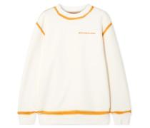 Zweifarbiges Sweatshirt aus Baumwoll-jersey