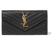 Gestepptes Portemonnaie aus Strukturiertem Leder