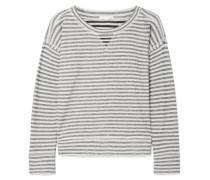 Charlie Gestreiftes Pyjama-oberteil aus Baumwoll-jersey