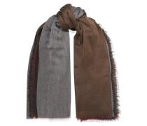 Schal aus Kaschmir in Colour-block-optik