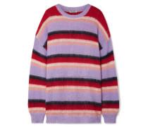 Gestreifter Oversized-pullover aus einer Mohairmischung