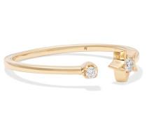 Star Ring aus 18 Karat  mit Diamanten