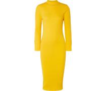 Geripptes Kleid aus Stretch-baumwolle