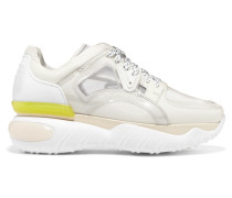 Sneakers aus Pvc, Mesh und Strukturiertem Leder