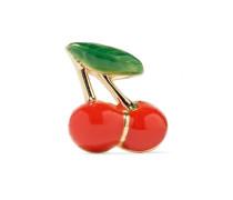 Cherry Ohrring aus 14 Karat  mit Emaille