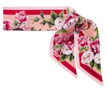 Schal aus Seiden-twill mit Blumenprint