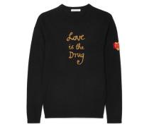Love Is The Drug Pullover aus einer Wollmischung