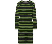 Gestreiftes Kleid aus Mesh und Stretch-jersey
