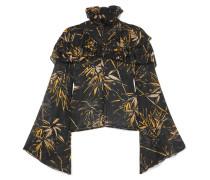 Bluse aus Bedrucktem Seidenchiffon