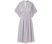 Gestreiftes Kleid aus Baumwoll-jacquard