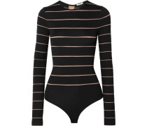 Grace String-body aus Gestreiftem Stretch-jersey