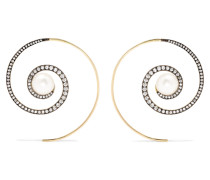 Spiral Moon Ohrringe aus 18 Karat
