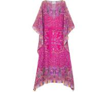 Chubasco Asymmetrisches Kleid aus Seidenchiffon