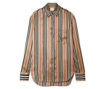 Gestreiftes Hemd aus Seidensatin