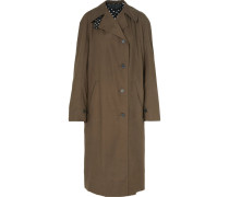 Trenchcoat aus Baumwoll-gabardine in Oversized-passform