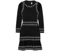 Minikleid aus Stretch-strick mit Nieten