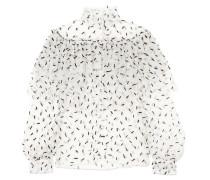 Verzierte Bluse aus Tüll mit Rüschen