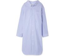 Gestreiftes Oversized-kleid aus Baumwollpopeline