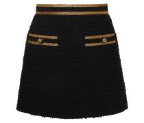 Minirock aus Tweed aus einer Baumwollmischung