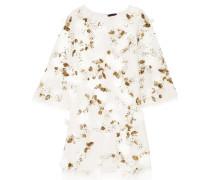 Verziertes Minikleid aus Tüll