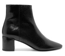 Lou Ankle Boots aus Craquelé-leder