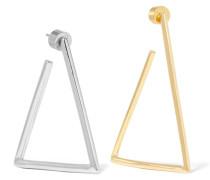 Triangle Versilberte und Verete Ohrringe