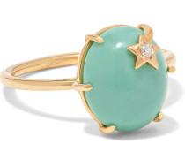 Ring aus 18 Karat  mit Türkis und Diamant