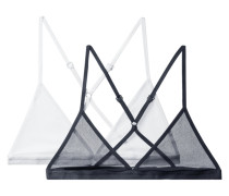 Set aus Zwei Triangel-bhs aus Baumwolltüll