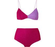 Lumière Bikini aus Stretch-lurex® in Colour-block-optik