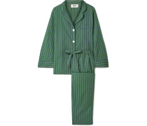 Marina Pyjama aus Gestreifter Baumwollpopeline