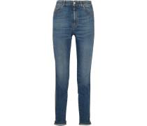 Hoch Sitzende Skinny Jeans mit Streifen