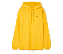 Oversized-hoodie aus Jersey aus einer Baumwollmischung