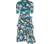 Kleid aus Jersey und Crêpe