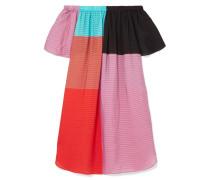 Lula Schulterfreies Kleid aus Seersucker