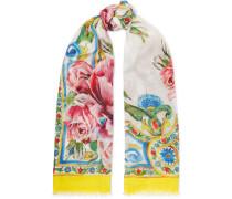 Maiolica Bedruckter Schal aus einer Modal-kaschmirmischung