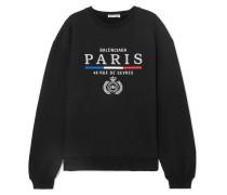 Sweatshirt aus Baumwoll-jersey mit Stickerei