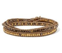 Wickelarmband mit Kristall- und Vereten Perlen