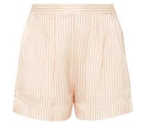 Riga Frutti Gestreifte Pyjama-shorts aus Seiden-seersucker