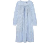 Cassie Gestreiftes Kleid aus Baumwollpopeline