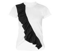 Asymmetrisches T-shirt aus Baumwoll-jersey in Zwei Farben