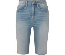 Le Vintage Bermuda Jeansshorts mit Fransen