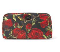 Kosmetiktasche aus Shell mit Blumenprint