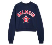 Verkürztes Sweatshirt aus Baumwoll-jersey