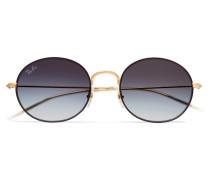 Beat farbene Sonnenbrille mit Rundem Rahmen
