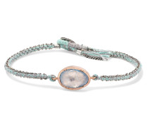 Orbit Armband aus 14 Karat , Sterlingsilber und Seide